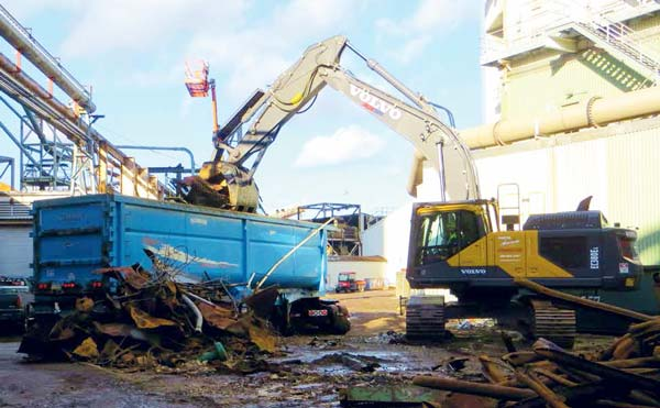 NADC salvaging and dismantling operation of scrap materials