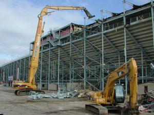 selective demolition critical lift equipment