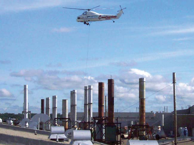 NADC critical lift with helicopter