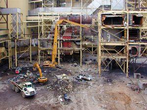 heavy industrial demolition high lift equipment