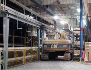 selective strip out automotive plant
