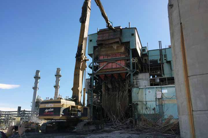 Demolition at Xcel Energy Arapaho