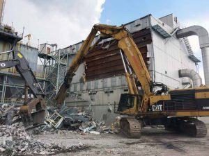Demolition at Xcel Energy Arapaho